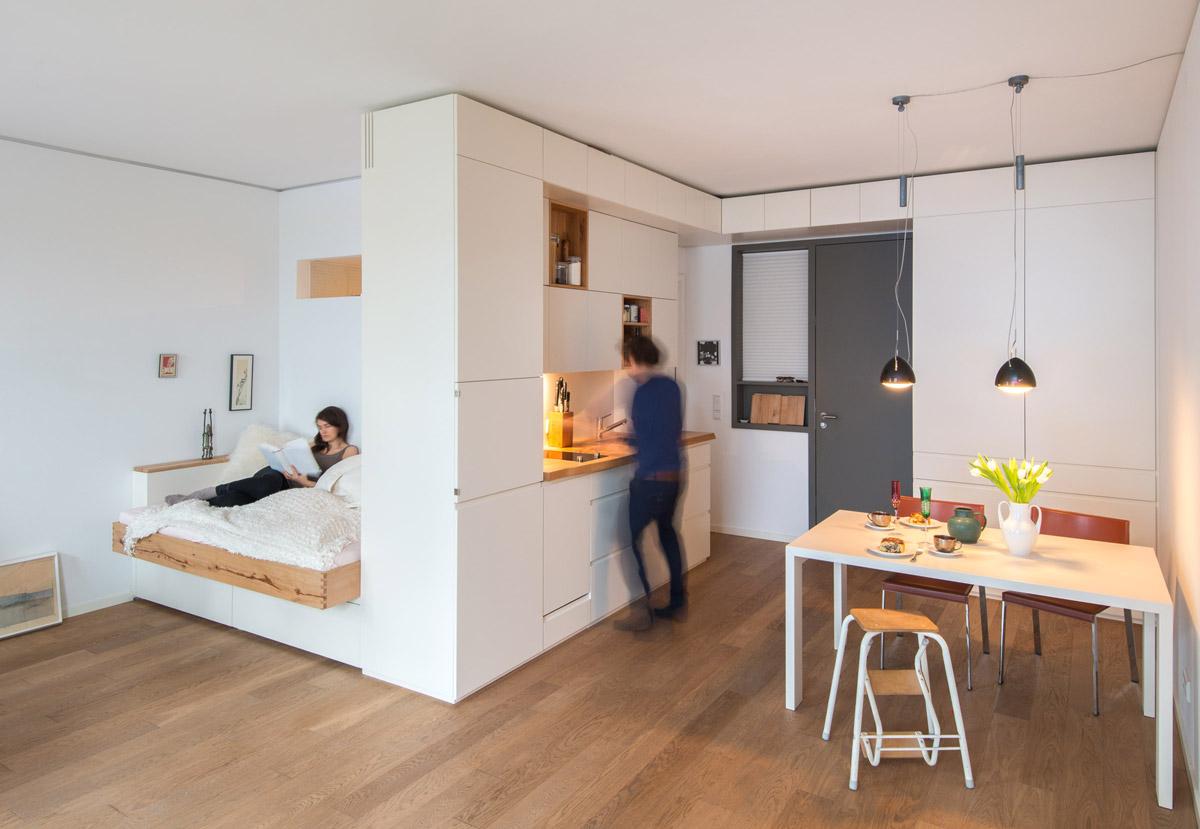 Возможно ли из кухни сделать спальню в однокомнатной комнате (фото) 12